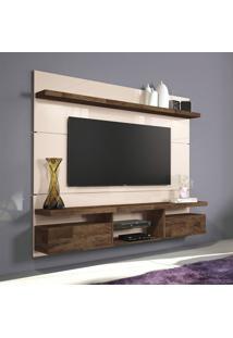 Painel Para Tv 55 Polegadas Livin Off White E Deck 181 Cm