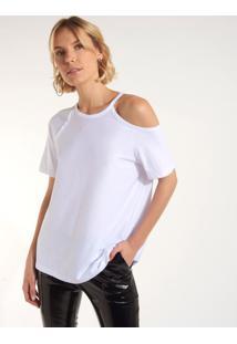 Camiseta Rosa Chá Cissa Ii Malha Branco Feminina (Branco, Pp)