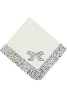 Manta Enxoval Piquet Padroeira Baby Provence Floral Bege - Bege - Menina - Dafiti