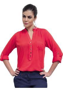 Blusa Vermelha Feminina Principessa Ellen